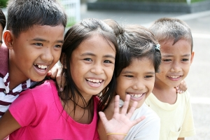 Smiling Philippine children